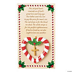 Candy Cane Heart Ornaments On Card