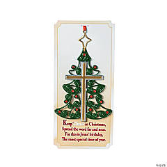 Christmas Tree Cross Ornaments with Cards