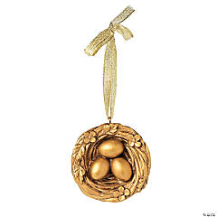 Golden Nest Ornaments on Card