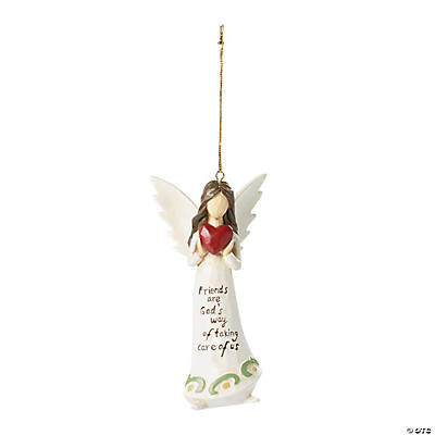 """Friends Are God's Way"" Angel Christmas Ornament"