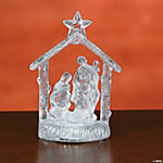Lighted Holy Family