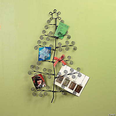 Wire Christmas Tree Card Holder