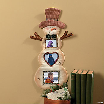 Snowman Photo Frame Wall Hanging