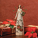 Girl with Wreath & Poinsettia