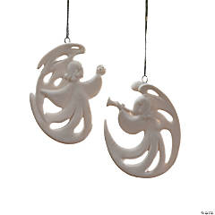 Ceramic Stylized Angel Christmas Ornaments