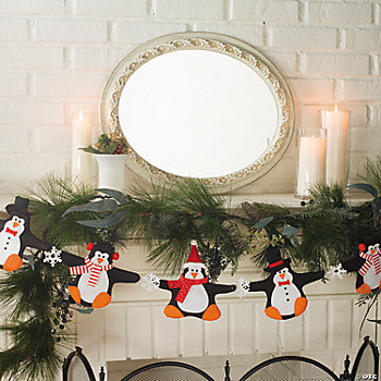 Plush Penguin Garland