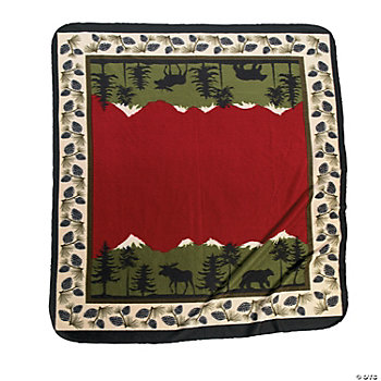 Lodge Throw with Pinecone Border