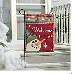 "Snowman ""Welcome"" Mini Flag"