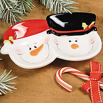 Divided Snowman Mini Dish