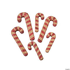 Carved Wood Candy Canes