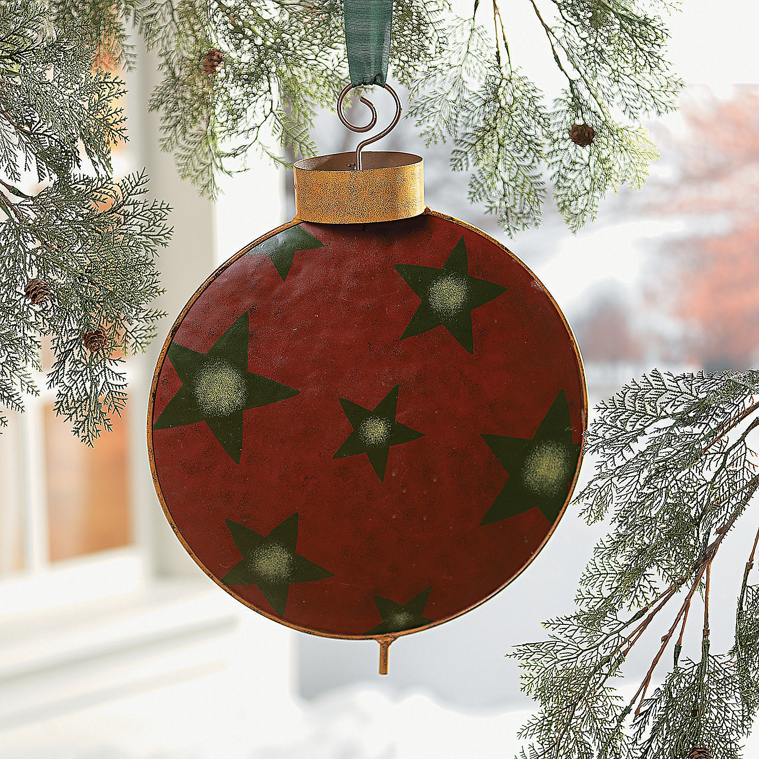 95 Amazing Outdoor Christmas Decorations: Ornament Yard Stakes