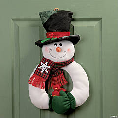 Plush Snowman Wreath