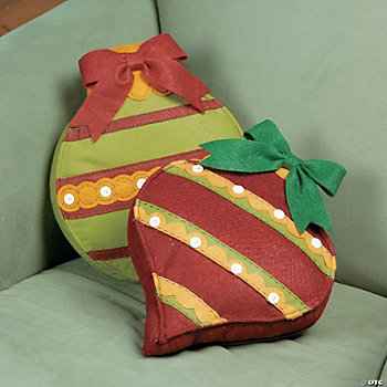 Ornament-Shaped Pillows
