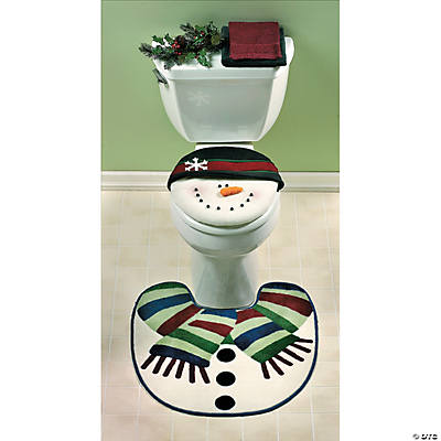 Snowman Toilet Lid Cover & Rug