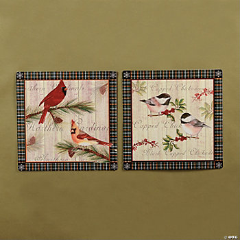 Chickadee & Cardinal Wall Art
