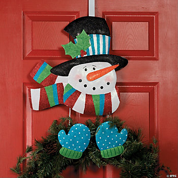 Over-the-Door Snowman Wreath Holder