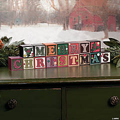 """Merry Christmas"" Blocks"