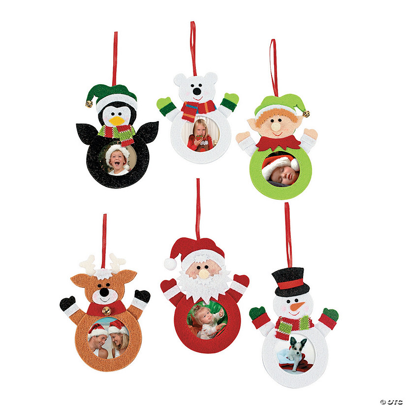 Character Picture Frame Christmas Ornaments - Discontinued