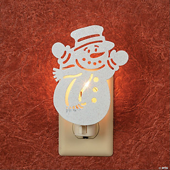 Silhouette Snowman Night-Light