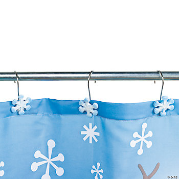 Snowflake Shower Curtain Hooks