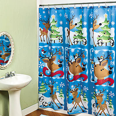 Reindeer Shower Curtain