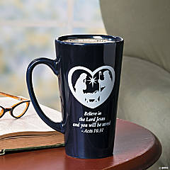 """Believe"" Nativity Mug"