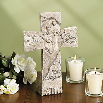 """Faith"" Tabletop Cross"