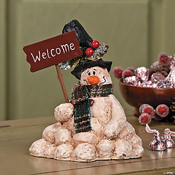 """Welcome"" Melting Snowman"
