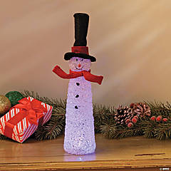 Snowman with LED Light