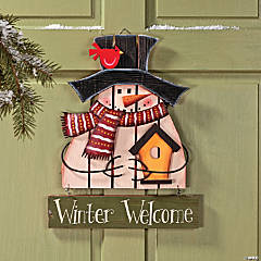 """Winter Welcome"" Snowman Decoration"