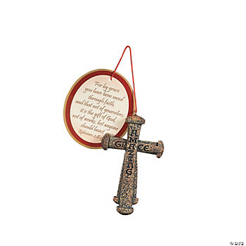 """Amazing Grace"" Nail Cross Ornamets With Card"