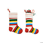Boy's Striped Christmas Stocking