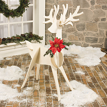Slotted reindeer decoration oriental trading discontinued for Outdoor deer christmas decorations