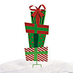 Stack of Gifts Yard Stake
