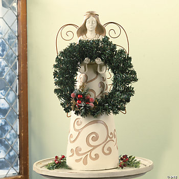 Wreath Holder Angel Statue