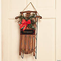 Personalized Sled Door Hanger