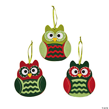 Christmas Owl Ornaments