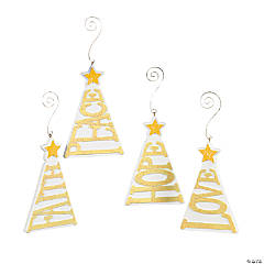 Christmas Tree-Shaped Words Ornament