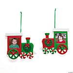 Train Photo Frame Ornaments