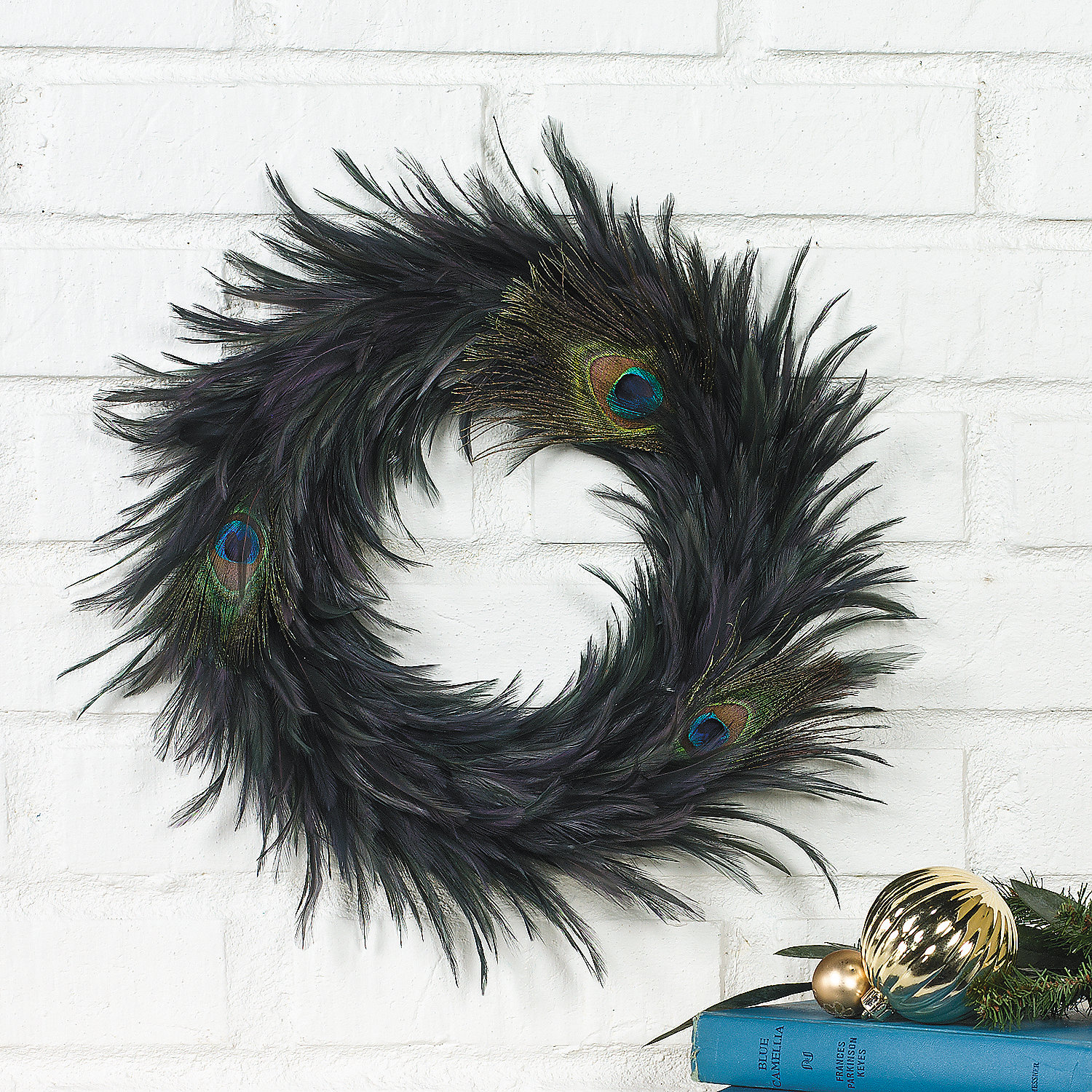 Peacock feather wreath oriental trading discontinued