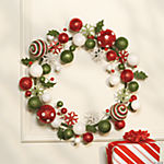Red & Green Holiday Wreath
