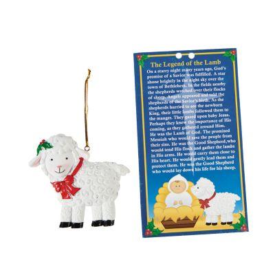 12 religious Christmas lamb legend ornaments kids