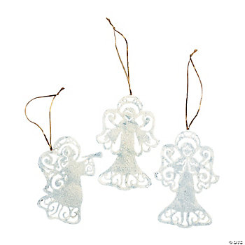 Silhouette Angel Ornaments