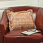 Holiday Print Burlap Pillow