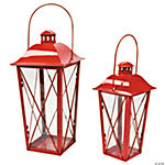 Red Metal Lanterns