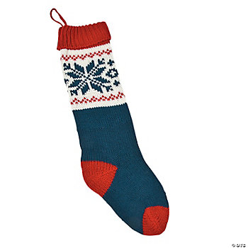 Red & Blue Knit Stocking