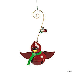 Jingle Bell Cardinal Ornaments