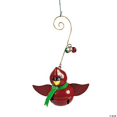 Jingle Bell Cardinal Christmas Ornaments