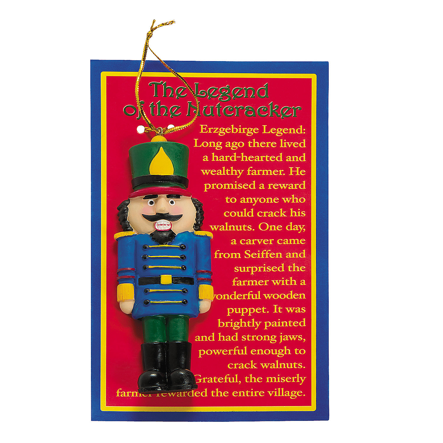 "Legend Of The Christmas Tree Poem: ""Legend Of The Nutcracker"" Christmas Ornaments"