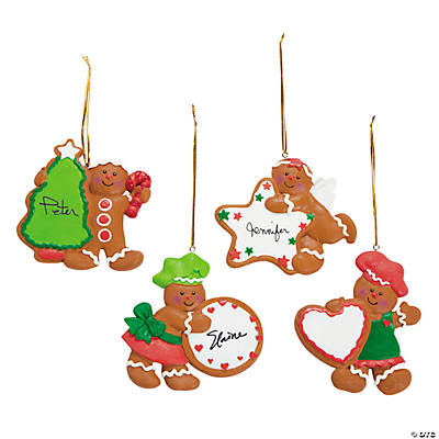 Gingerbread Characters with Cookie Christmas Ornaments